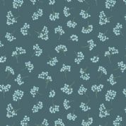 Lewis & Irene Flo's Wildflowers - 5426 - Forget-Me-Nots on Teal - FLO8.2 - Cotton Fabric